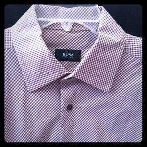 Men's bottom down long sleeve designer shirt